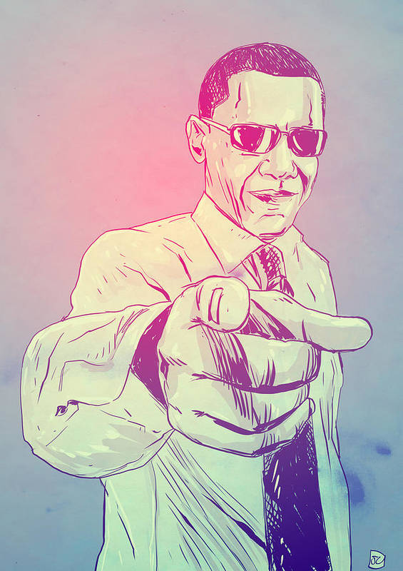 Usa President Art Print featuring the drawing Yes You Can by Giuseppe Cristiano