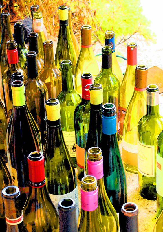 Wine Tasting Print featuring the photograph You Are Invited To A Wine Tasting... by Margaret Hood