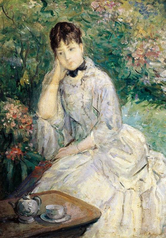 Art Art Print featuring the painting Young Woman Seated On A Sofa by Berthe Morisot