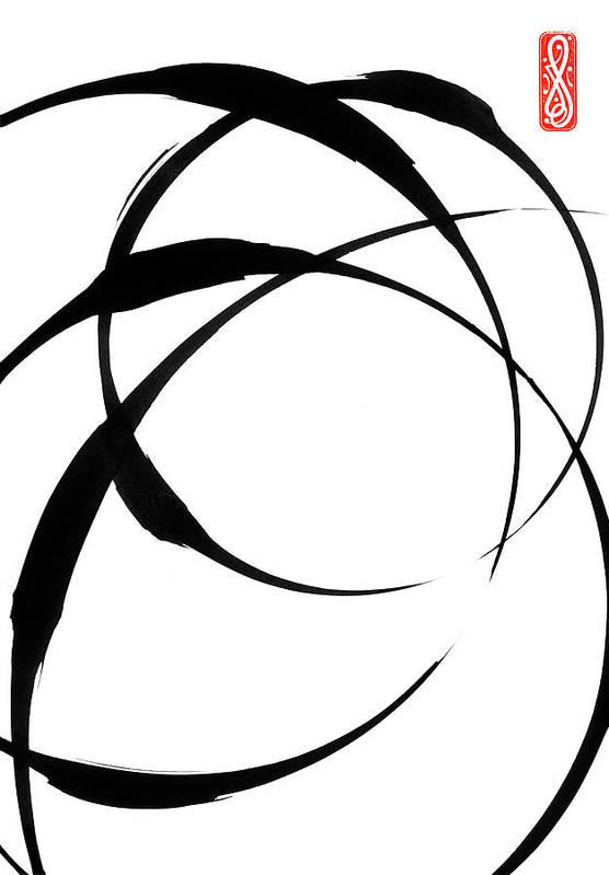 Zen Art Print featuring the painting Zen Circles 4 by Hakon Soreide