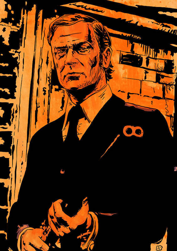 Michael Caine Art Print featuring the drawing Michael Caine by Giuseppe Cristiano