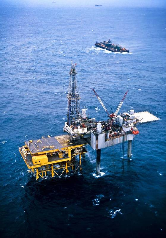 Equipment Print featuring the photograph Oil Platform by Arno Massee
