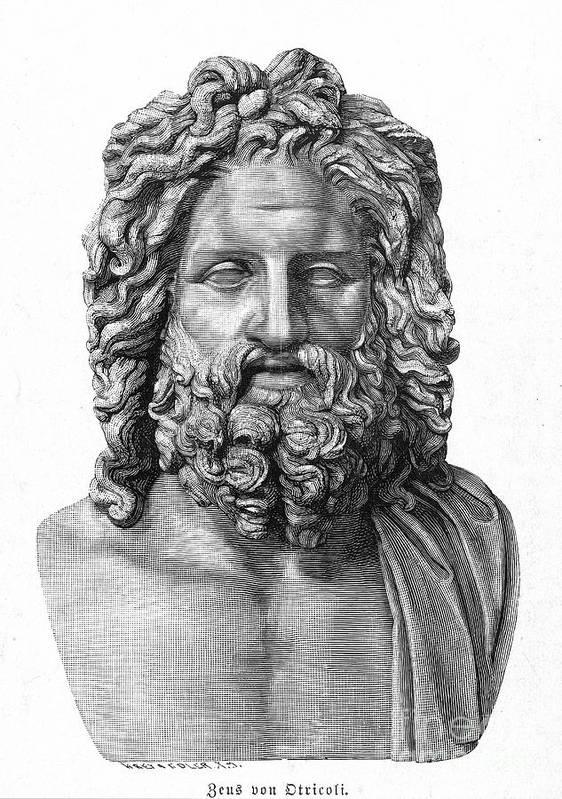 4th Century B.c Art Print featuring the photograph Zeus by Granger