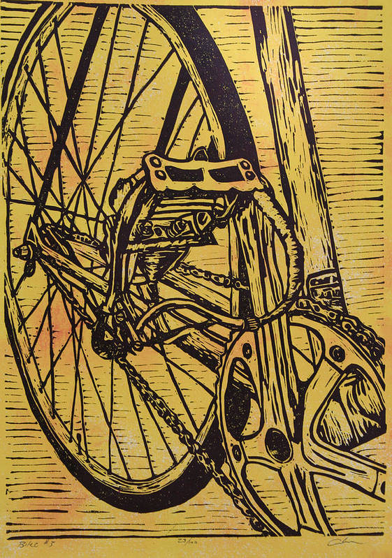 Bike Art Print featuring the drawing Bike 3 by William Cauthern