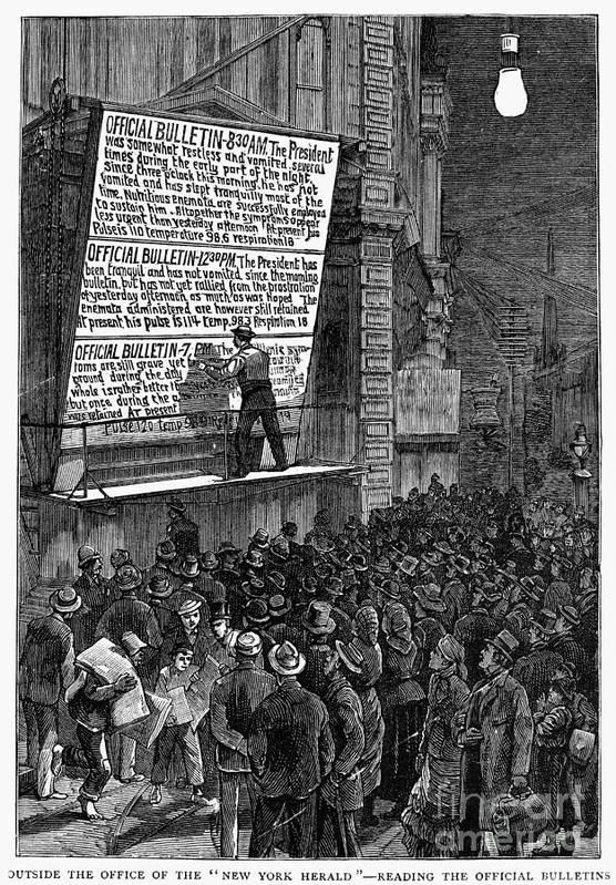 1881 Art Print featuring the photograph Garfield: Assassination by Granger