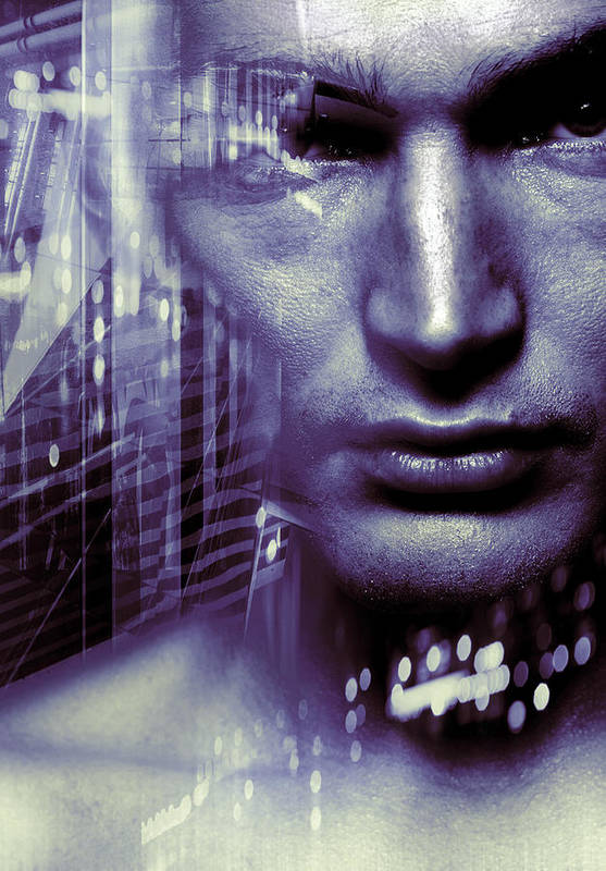 Face Art Print featuring the photograph Artificial Intelligence by Coneyl Jay