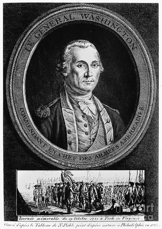 18th Century Art Print featuring the photograph George Washington by Granger