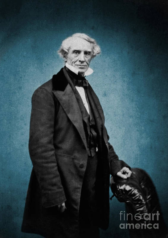 Science Art Print featuring the photograph Samuel Morse, American Inventor by Science Source