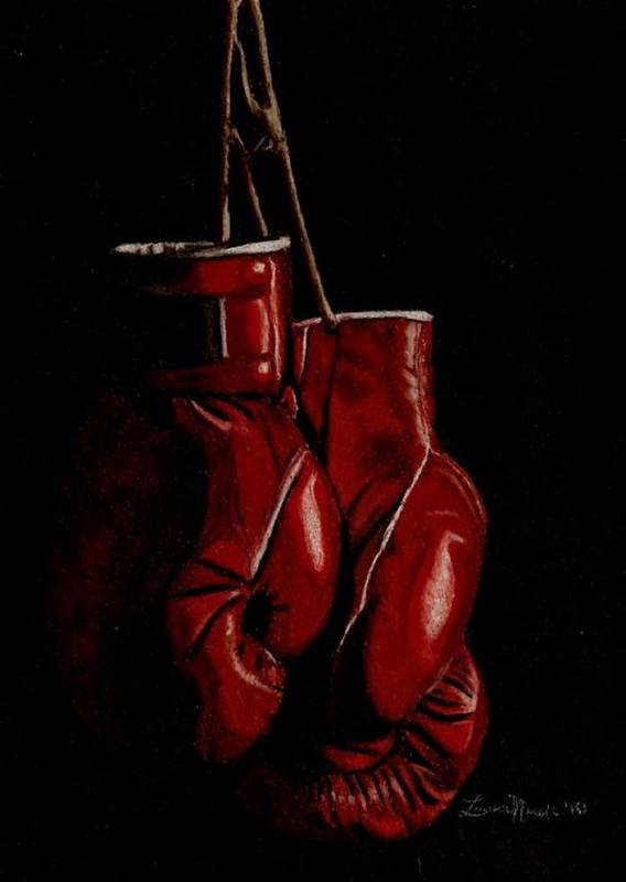 Boxer Art Print featuring the drawing A Boxer's Passion by Laura Evans
