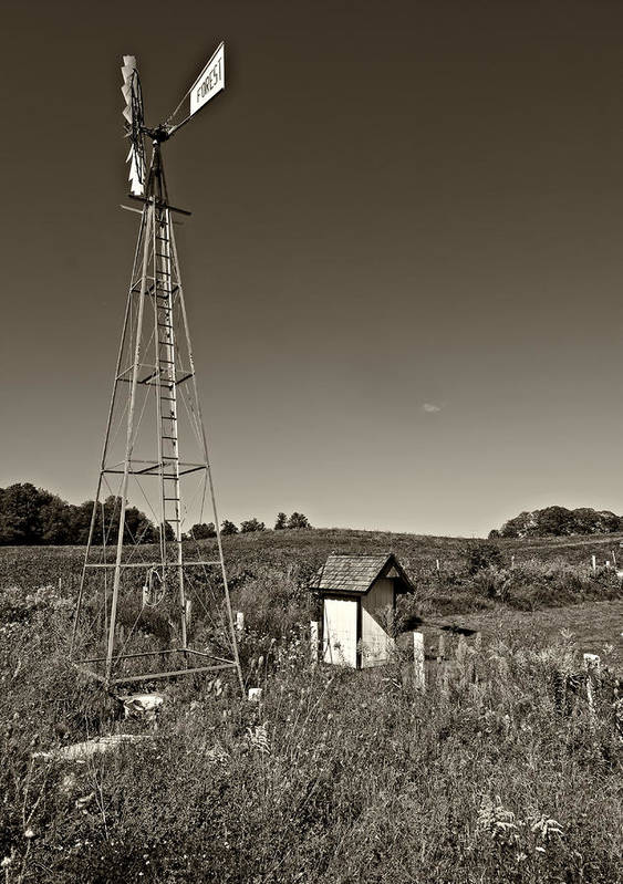 Grey Roots Museum & Archives Art Print featuring the photograph A Moving Memory Monochrome by Steve Harrington