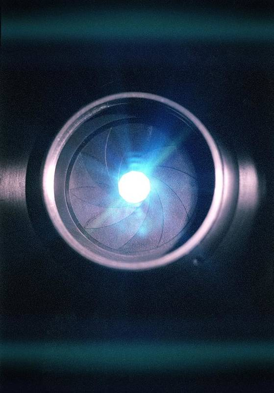 Lens Print featuring the photograph Aperture Flare by Richard Kail