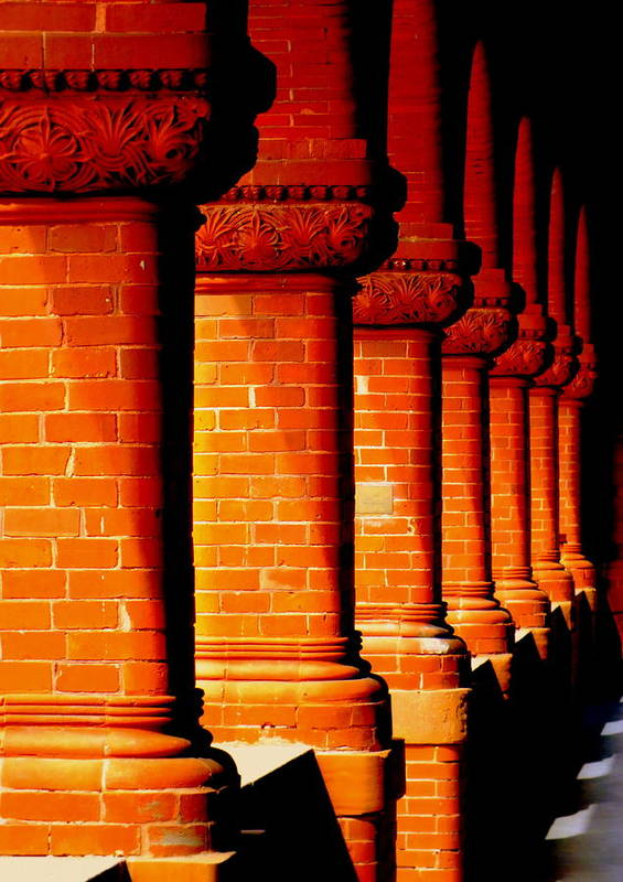 Architecture Art Print featuring the photograph Archaic Columns by Karen Wiles