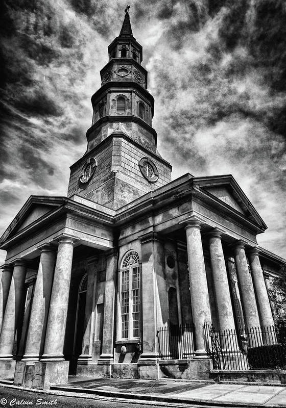 Art Print featuring the photograph Church by Calvin Smith
