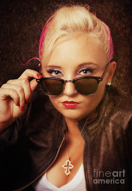 Girl Art Print featuring the photograph Cool Shades by Billie-Jo Miller