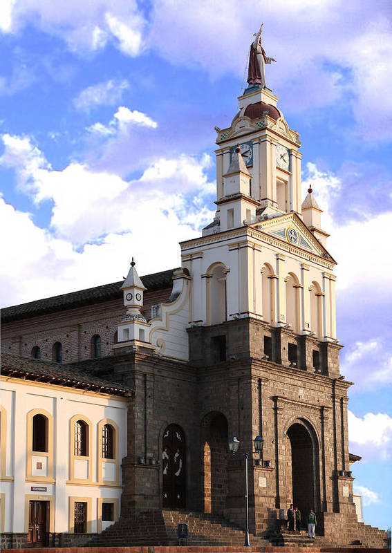 Cotacachi Art Print featuring the photograph Cotacachi Cathedral by Ralph Brannan
