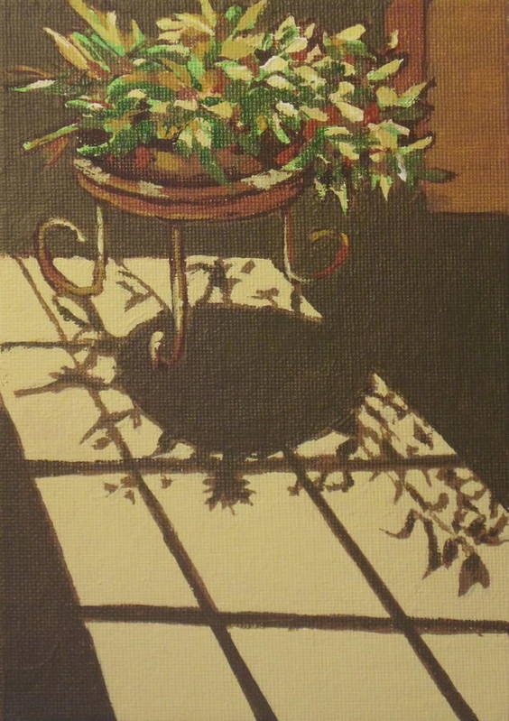 Plant Print featuring the painting Dancing Light by Sandy Tracey