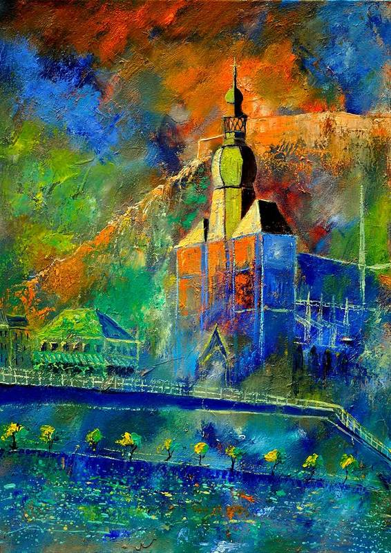 Landscape Art Print featuring the painting Dinant 572190 by Pol Ledent
