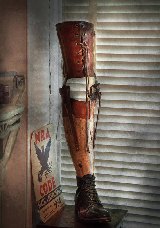 Hdr Art Print featuring the photograph Doctor - A Leg Up In The Competition by Mike Savad