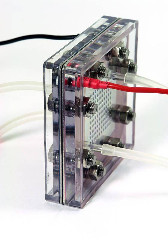 Machine Art Print featuring the photograph Fuel Cell by Friedrich Saurer