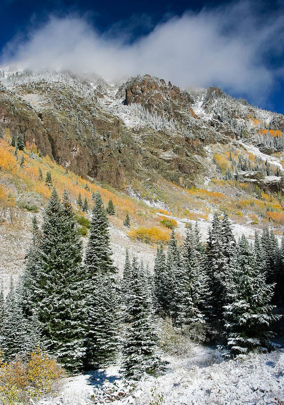 Colorado Art Print featuring the photograph Gore Range Cold by Adam Pender