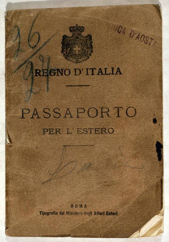 1900s Art Print featuring the photograph Italian Passport. Italian Passport by Everett