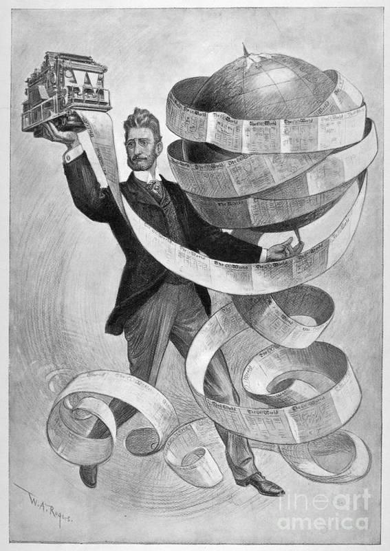 1901 Art Print featuring the photograph Joseph Pulitzer by Granger