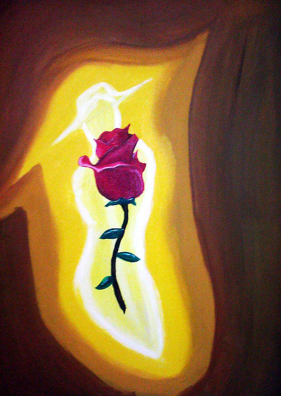 Lady Art Print featuring the painting Lady Rose by Burma Brown