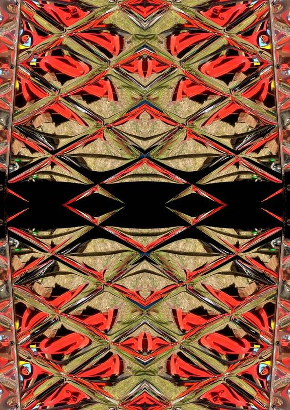 Red Art Print featuring the ceramic art Lit0911001008 by Tres Folia