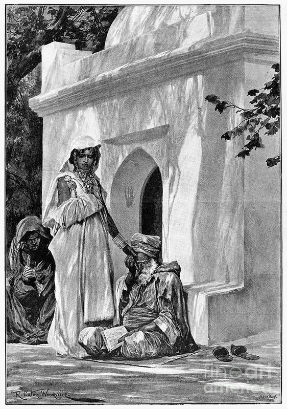 1893 Art Print featuring the photograph Morocco: Fortune Teller by Granger