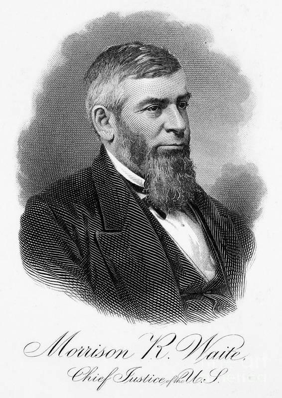 19th Century Art Print featuring the photograph Morrison R. Waite (1816-1888) by Granger