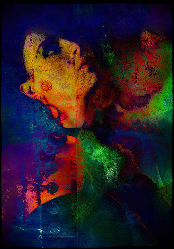 Girl Art Print featuring the photograph Ophelia In Neon by Adam Kissel