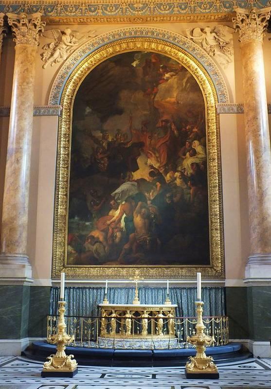 Royal Naval Chapel Art Print featuring the photograph Royal Naval Chapel Interior by Anna Villarreal Garbis