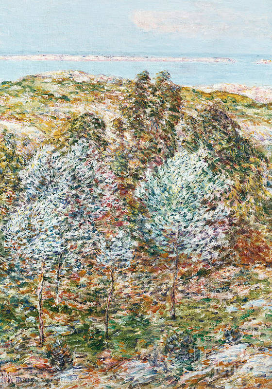 Springtime Vision Art Print featuring the painting Springtime Vision by Childe Hassam