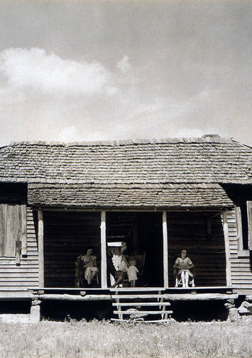 1930s Candid Art Print featuring the photograph The Family Home Of Floyd Burroughs by Everett