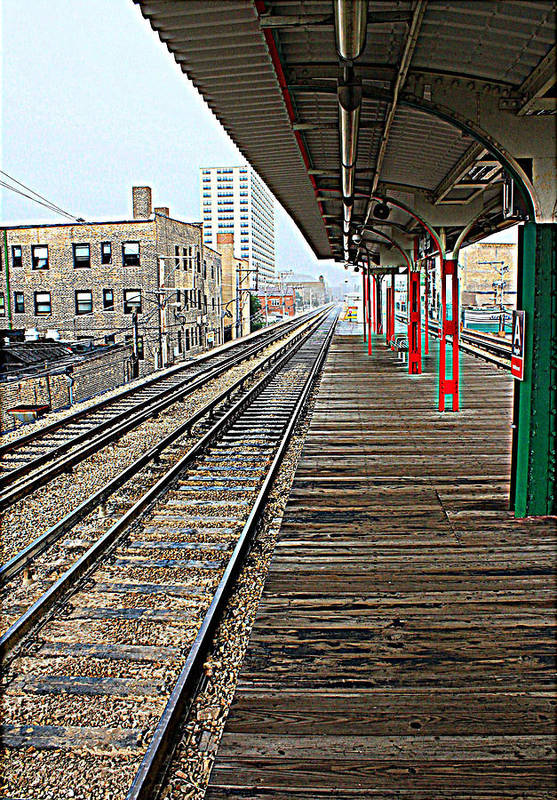 Chicago Rail System Art Print featuring the photograph Track Lines by Ryan and Karin Keranen