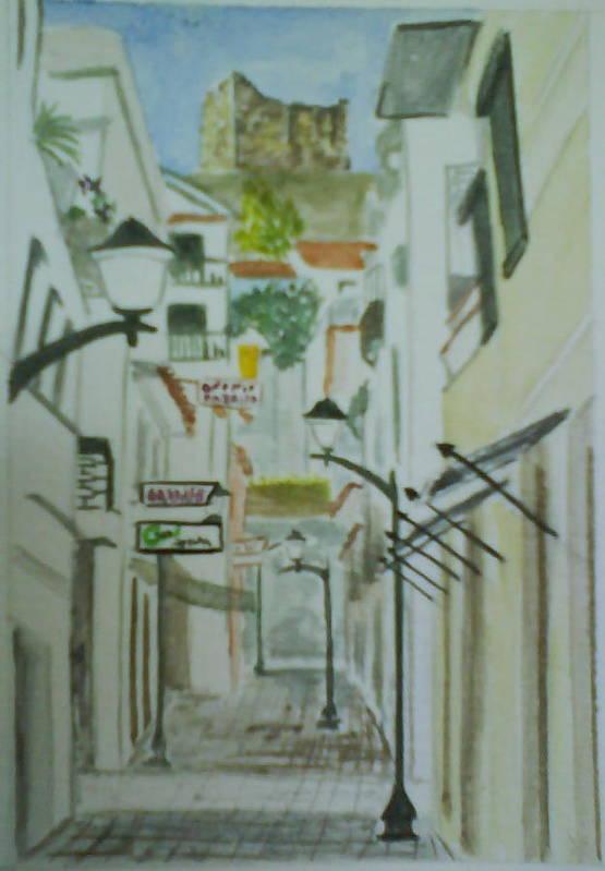 Old Art Print featuring the painting Travessa Da Cadeia by Paula Teresa