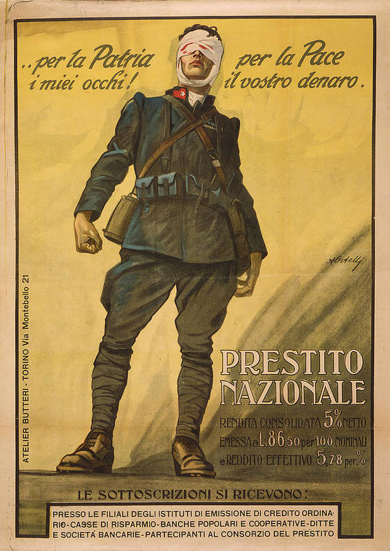 1910s Print featuring the photograph World War I, Poster Shows A Wounded by Everett
