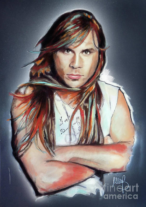 Bruce Dickinson Art Print featuring the mixed media Bruce Dickinson by Melanie D