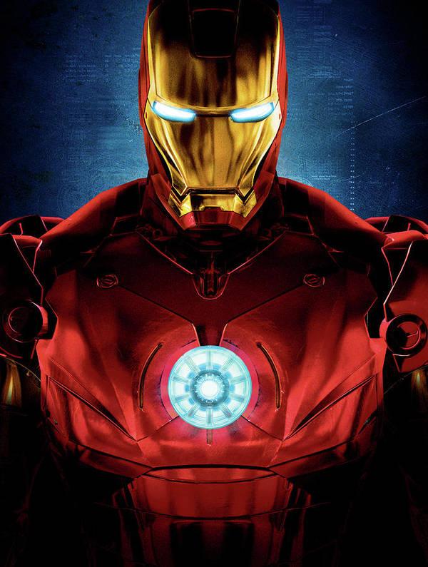 Captain America Art Print featuring the digital art Iron Man by Caio Caldas