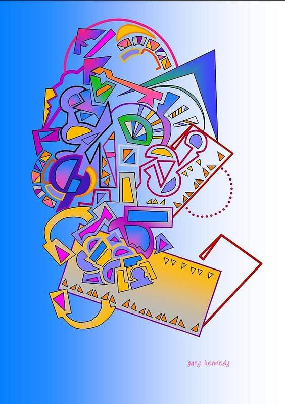 Abstract Art Print featuring the digital art Page 18 by Gary Kennedy