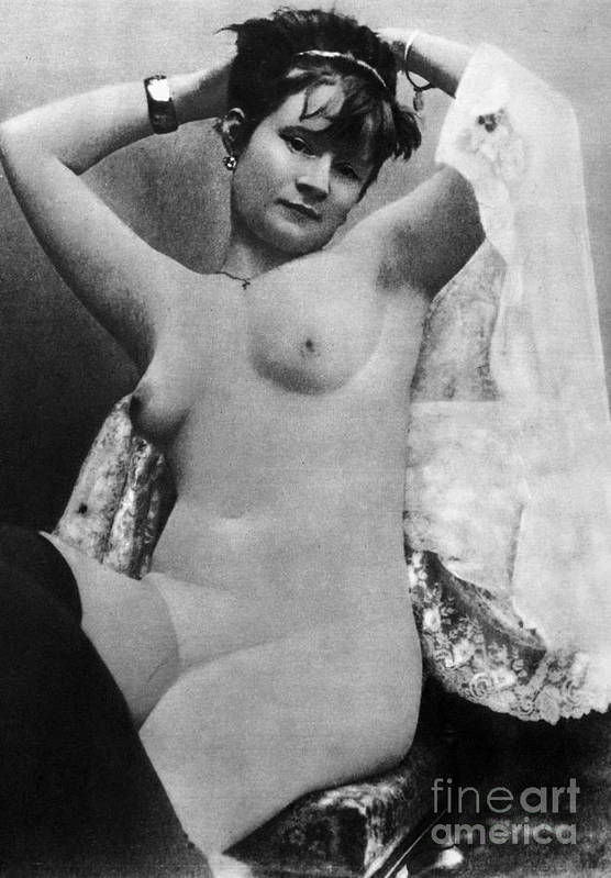 1888 Art Print featuring the photograph Nude Posing, C1888 by Granger
