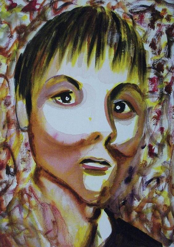Man Art Print featuring the painting Untitled by Suzanne Marie Leclair