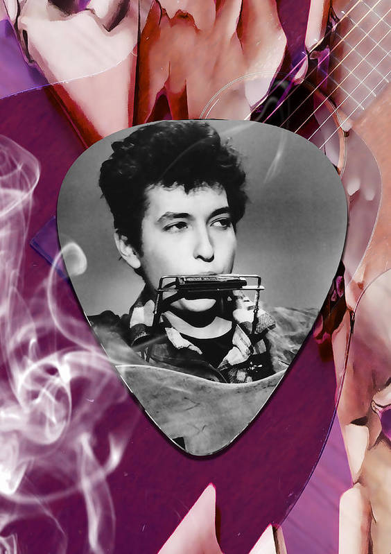 Bob Dylan Art Art Print featuring the mixed media Bob Dylan Art by Marvin Blaine