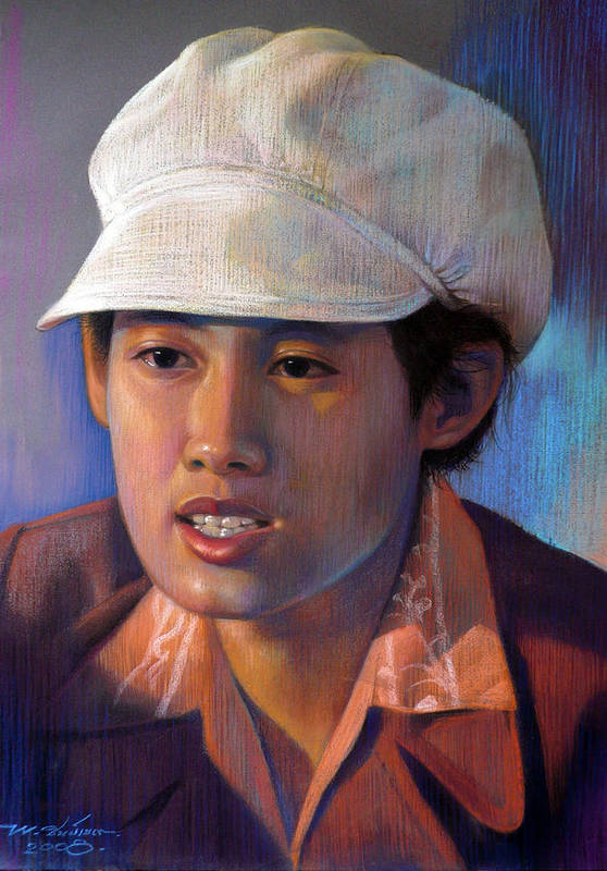 Realism Art Print featuring the painting Untitled by Chonkhet Phanwichien