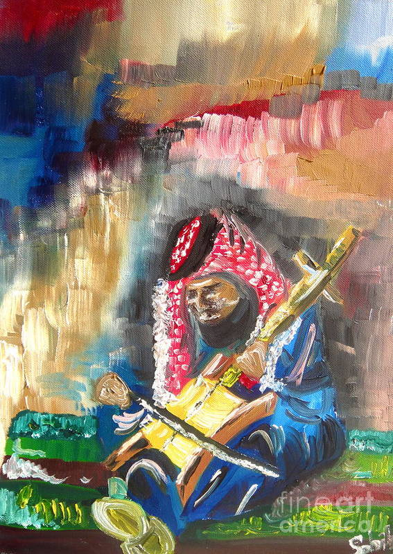 Bedouin Art Print featuring the painting A Bedouin Life by Sabrina Phillips