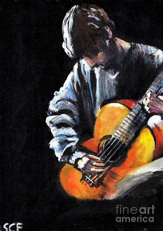 Acoustic Art Print By Sheila Cronin Fleming
