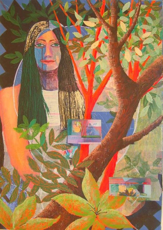 Portrait Art Print featuring the painting Adana by Maxine Ouellet