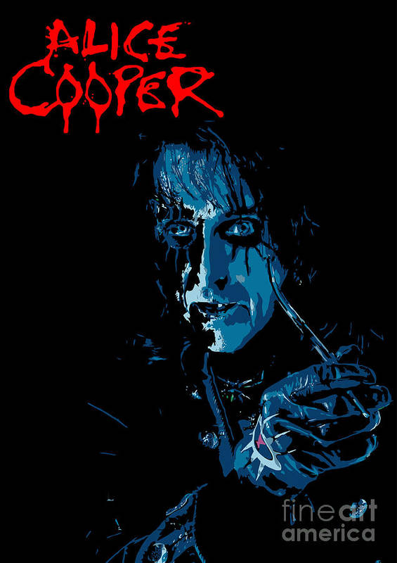 Artwork Art Print featuring the digital art Alice Cooper by Caio Caldas