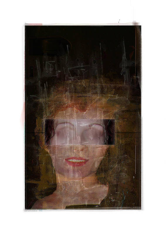 Portrait Art Print featuring the digital art Ann Hos by Nuff