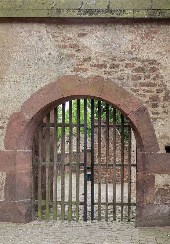 Heidelberg Art Print featuring the photograph Arched Gate At Heidelberg Castle by Teresa Mucha